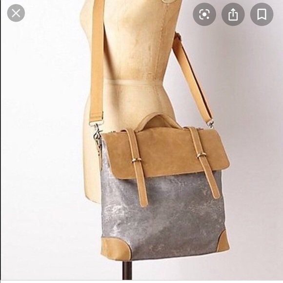 Anthropologie Handbags - Anthropologie Jesslyn Blake Silver Messenger Bag